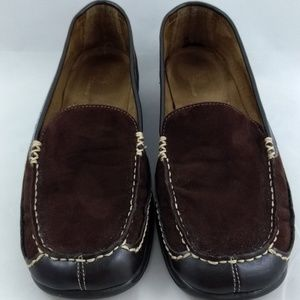 Aerosoles Size 8 Loafers Brown Faux Suede Flats